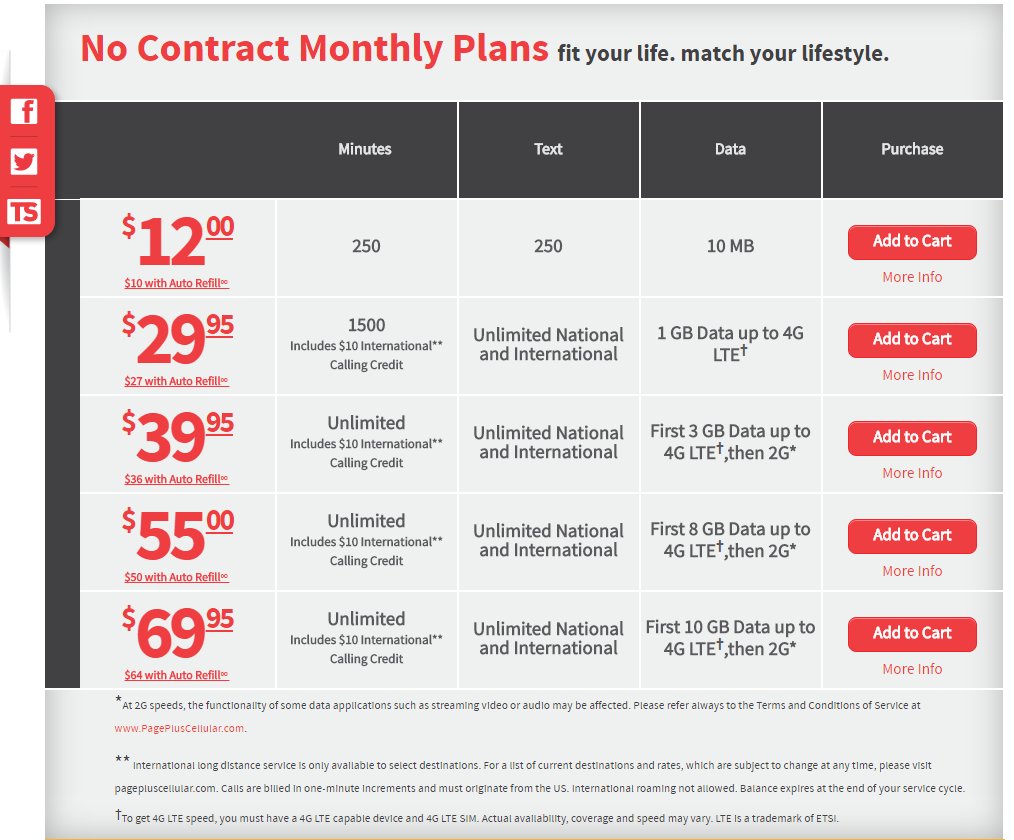 Prepaid Service for Page Plus